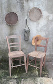 Old wooden chairs — Stock Photo