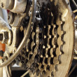 Rear MTB cassette with chain — Stock Photo