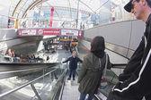 Commuters in the Berlin Hauptbahnhof Station — Stock Photo