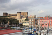 Castel nuovo from the Harbour — Stock Photo