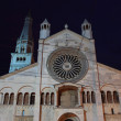 Modena Cathedral  at night — Stock Photo