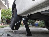 Tire puncture — Foto de Stock