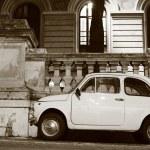 Постер, плакат: Fiat 500 in Rome