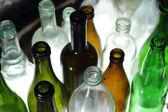 Fundo de garrafas — Foto Stock