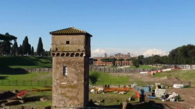 Circus Maximus. Ruins of Palatine hill, Rome, Italy. — Stock Video