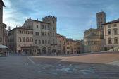 Arezzo Piazza Grande — Stock fotografie