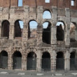 Colosseum detail, Flaviamphitheater in Rome, Italy — Stock Video #39069403