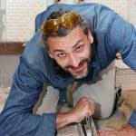 Tiler at work — Stock Photo #39204355