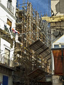 Exterior with scaffold — Stock Photo