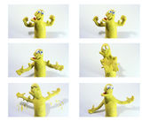 Clay muscular character — Foto Stock