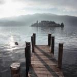 Постер, плакат: San Giulio isle Orta Lake Italy