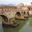 Stock Photo: Bridge Ponte Sisto in Rome, Italy.