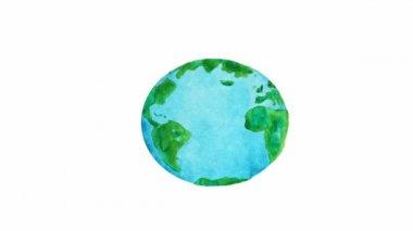 Planeta animación — Vídeo de stock