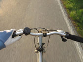 Bicycle handlebar — Stock Photo