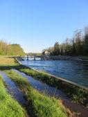 Ditch bridge — Stock Photo