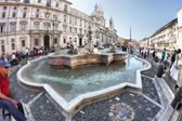 The Moor Fountain, located in the southern area of Piazza Navona — Stock Photo