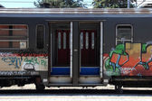 Train graffiti — Stock Photo