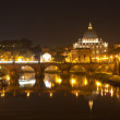 Royalty-Free Stock Photo: Basilica St Peter and river Tiber in Rome