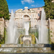 Fountain of Neptune in villa d Este in Tivoli - Stock Photo