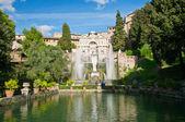 Fountain of Neptune in villa d Este in Tivoli — Stock Photo