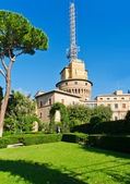 Vatican radio station and Vatican gardens — Stock Photo