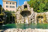 La fuente del águila en los jardines del vaticano — Foto de Stock