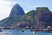 The mountain Sugar Loaf and Urca in Rio de Janeiro — Stock Photo