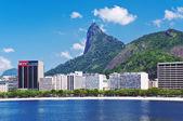 Botafogo and Corcovado in Rio de Janeiro — Stock Photo