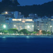Stock Photo: Night view of Copacabanbeach in Rio de Janeiro
