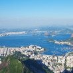 The mountain Sugar Loaf and Botafogo in Rio de Janeiro — Stock Photo #22518979