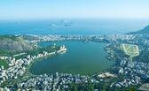 Lagoa Rodrigo de Freitas, Ipanema, Leblon in Rio de Janeiro — Stock Photo