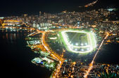 Jockey club, Lagoa Rodrigo de Freitas and Leblon in Rio de Janeiro — Stock Photo
