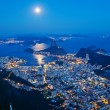 Stock Photo: Night view of mountain Sugar Loaf and Botafogo in Rio de Janeiro