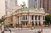 The Municipal Theatre in Rio de Janeiro — Stock Photo