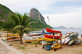 Mountain Sugar Loaf and Red beach in Rio de Janeiro — Stock Photo