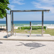 Chin-up bar on Barra da Tijuca beach in Rio de Janeiro — Stock Photo