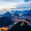 Night view of Botafogo and Corcovado in Rio de Janeiro. — Stock Photo