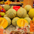 Stock Photo: Fresh melon in LBoquerimarket in Barcelona