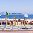 Beach for gays on Ipanema in Rio de Janeiro — Stock Photo