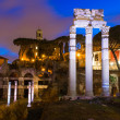 Night view of Forum of Caesar in Rome — Stock Photo