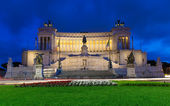 Monument Vittorio Emanuele II and Altar of Fatherland in Roma — Stock Photo