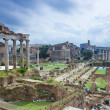 Постер, плакат: Temple of Saturn and Forum Romanum in Rome