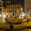 Northward view of the Piazza Navona with the fontana del Moro  the Moor Fountain  in Rome — Stock Photo