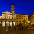 The Basilica of Our Lady in Trastevere (Basilica di Santa Maria in Trastevere), a titular minor basilica and one of the oldest Churches of Rome — Stock Photo