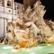 The fountain of four rivers designed by Bernini,  Piazza Navona, Rome — Stock Photo