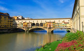 View of Ponte Vecchio over Arno River in Florence — Stock Photo