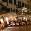 Night view of restaurants on Piazza Navona in Rome — Stock Photo #36586217