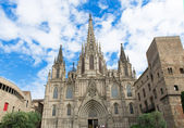 The gothic Barcelona Cathedral Holy Cross and Saint Eulalia — Stock Photo