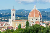 Aerial view of Cathedral of Santa Maria del Fiore (Duomo) in Florence — Stock Photo
