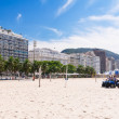 Stock Photo: View of Copacabanbeach and beach Police in Rio de Janeiro